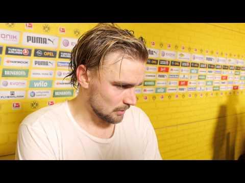 Interview: Marcel Schmelzer nach dem Heimspiel gegen den VfL Wolfsburg (2:2) | BVB
