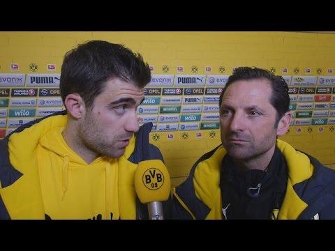 Interview: Sokratis nach dem Spiel gegen den FC Augsburg (0:1) | BVB